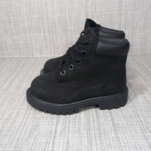 Timberland Leather Waterproof Boots Black 6C
